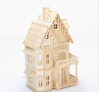 New Handmade Wooden Dream Dollhouse Rooms DIY Kits Miniature Doll House Gift