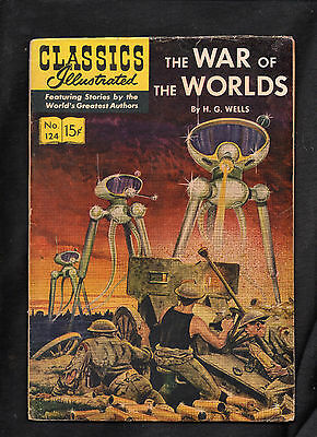 CLASSICS ILLUSTRATED #124 hrn141  G (THE WAR OF THE WORLDS) H G WELLS