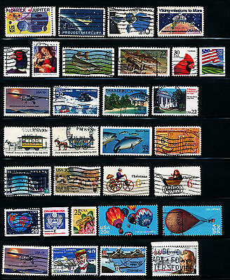 G124  Usa Collection Of 31 Commemorative Used Stamps