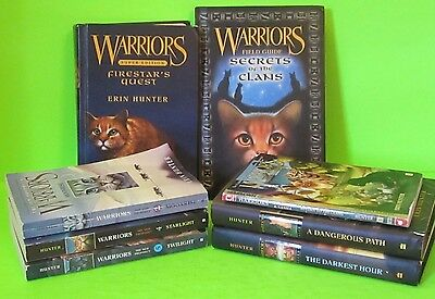 Lot 8 Warriors - Erin Hunter Power Of Three Field Guide Super Ed New Prophecy