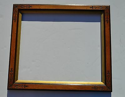Beautiful Lg Antique Victorian Carved East Lake Style Gilt Wood Picture Frame (B