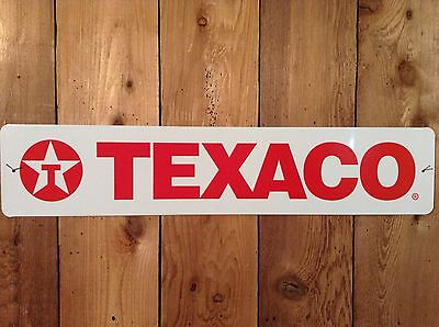 "Texaco Oil Gas 5"" x 24"" Tin Sign - USA items ships from WA"