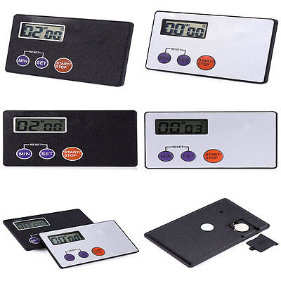 Hot Digital Timer Study Rest Pocket Cooking Kitchen Credit Card Size Countdown