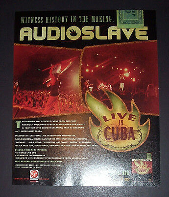 Audioslave Live In Cuba 2005 Small Poster Type Advert, Promo Ad