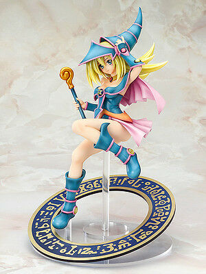Official Yu Gi Oh 1/7 Scale Dark Magician Girl Anime Figure Set - 21cm