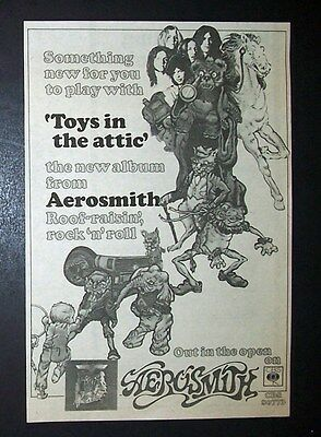 Aerosmith Toys In The Attic 1975 Small Poster Type Ad, Advert