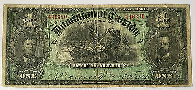 *** RARE !! Great condition 1897 $1 note !! DC-12  ***