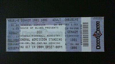 Dio 2004 Concert Ticket! Orlando Florida