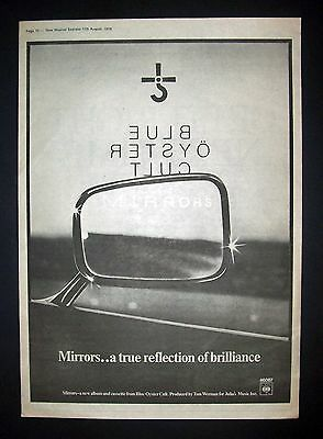 Blue Oyster Cult Mirrors 1979 Poster Type Ad, Promo Advert