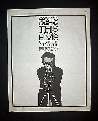 Elvis Costello This Year's Model 1978 Poster Type Advert, Promo Ad