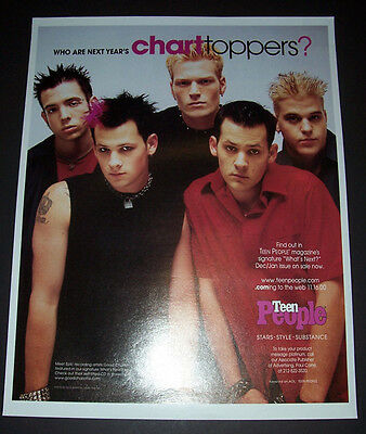 Good Charlotte 2000 Short Print Poster Type Advert, Promo Ad, Pin Up