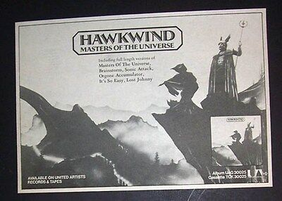 Hawkwind Masters Of The Universe 1977 Small Poster Type Advert, Promo Ad