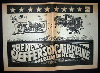 Jefferson Airplane After Bathing At Baxter's 1967 Poster Type Advert, Promo Ad