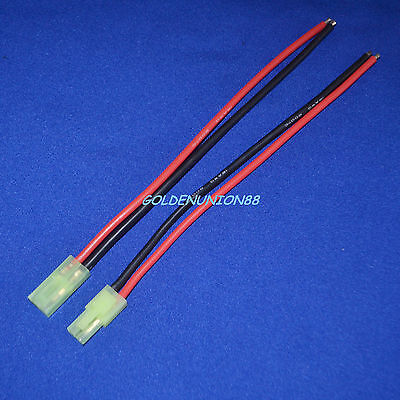 Mini TAMIYA CONNECTORS Male & Female 2pin 1pair 150mm Battery wire 16AWG RC