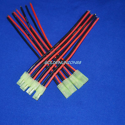 4pair mini TAMIYA CONNECTORS Male & Female 2pin 150mm Battery wire 16AWG RC