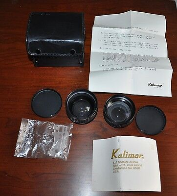 Kalimar Auxiliary Lens Set Canon Sure Shot AF35M II Telephoto Wide Angle