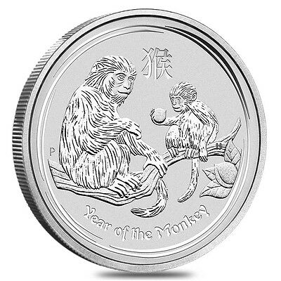 1oz Year of the Monkey 2016 Lunar Series 2 Silver Coin