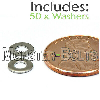 M3 / 3mm - Qty 50 - Metric DIN 125 A Flat Washer Stainless Steel 18-8 / A2