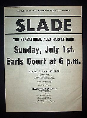 Slade, Slayed? Era, Earls Court Concert 1973 Poster Type Ad, Promo Advert