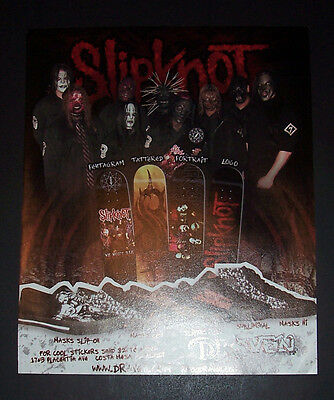 Slipknot Draven Sneakers Snow Boards 2005 Small Poster Type Advert, Promo Ad