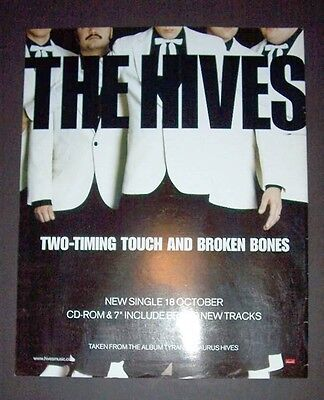 The Hives Two-Timing Touch And Broken Bones 2004 Concert Advert, Promo Ad