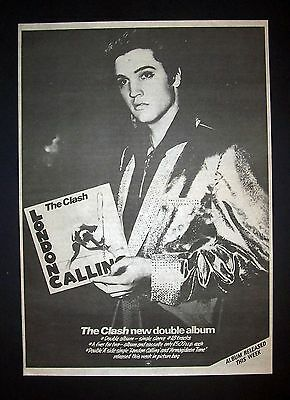 The Clash London Calling 1979 Poster Type Ad, Promo Advert
