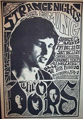 The Doors Iron Butterfly Sweetwater Shrine 1967 Concert Advert, Promo Ad