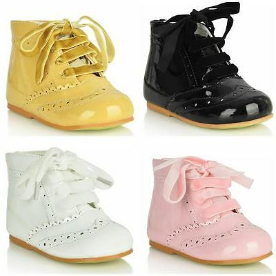 Infant Girls Spanish Style Lace Up Mini Boots Infant size 3-10
