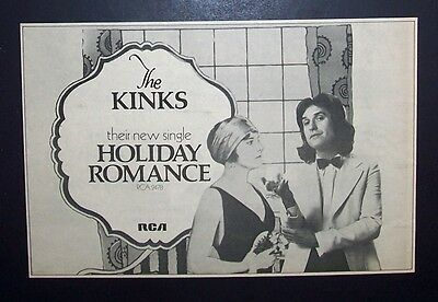 The Kinks Holiday Romance 1974 Small Poster Type Ad Promo Advert