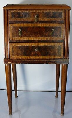 Krieger Paris Marble Top End Table French 1900's Signed