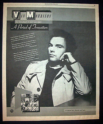 Van Morrison A Period Of Transition 1977 Poster Type Advert, Promo Ad 2