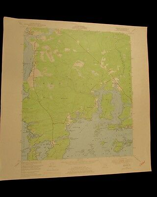 Addison Maine vintage 1978 original USGS Topographical chart