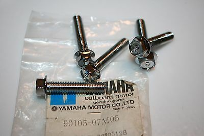 5 nos Yamaha outboard motor bolts 9.9 15hp cylinder 90105-07m05 1984-2006