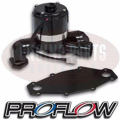 Proflow Black Aluminium Electric Water Pump & Plate Holden 253 304 308 5.0L V8