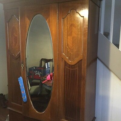 English antique armoire