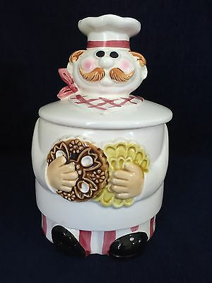 Vintage Chef Cookie Jar Ceramic Japan