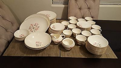 Pink Dogwood Knowles USA Kalla China 75 pieces