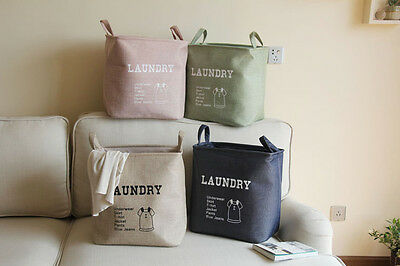 Household Supplies Storage Box Linen Cotton Canvas Laundry Basket