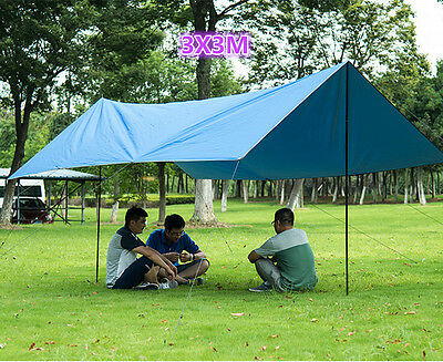 3x3M Portable Outdoor Camping Pad Cushion Canopy Tent Sun Shelter Sun Shade