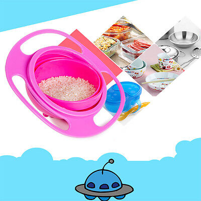 1 Pc Baby Non Spill Feeding Toddler 360 Rotate Gyro Bowl  Rotating Avoid Food