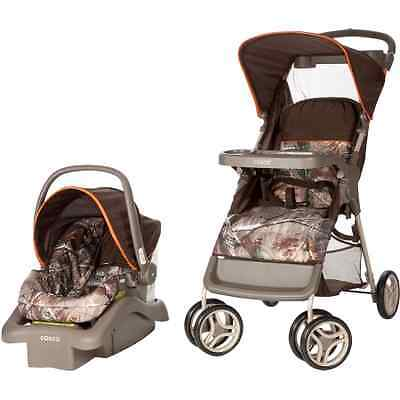 Cosco Lift and Stroller Travel System, Baby Infant Car Seat, Orange