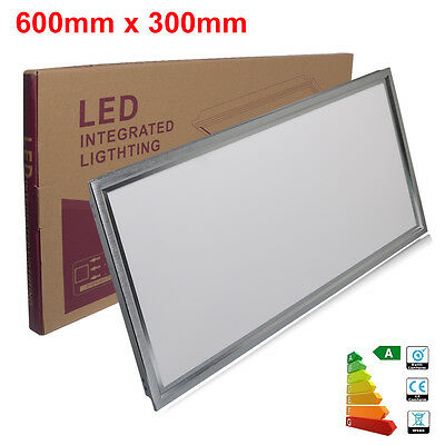 600mm x 300mm Suspended Ceiling Slim 18W LED Panel Recessed Light Office Lamp