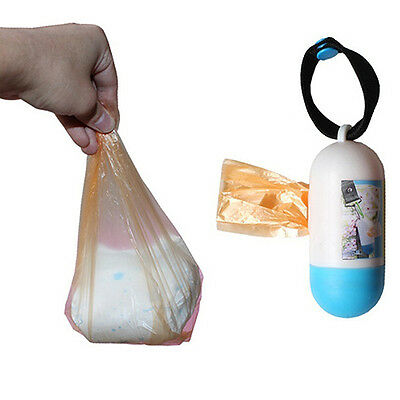 Outdoor Capsule Rubbish Bag Case+Garbage Bags For Baby Diapers Pet Poop Wondrous