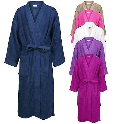 Unisex 100% Egyptian Hooded Dressing Gown Cotton Bathrobe Terry Towelling