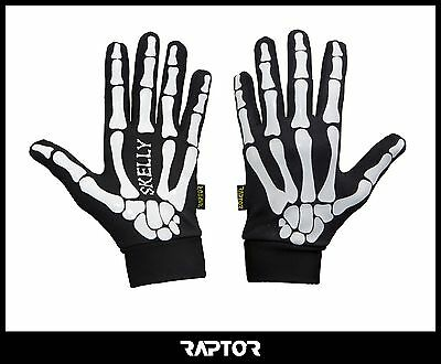 Mini/Junior Skeleton Rugby Full Grip Gloves/Stick Mits/Mitts Adult Small 13yrs+