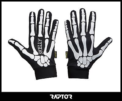 Mini/Junior Skeleton Rugby Full Grip Gloves/Stick Mits/Mitts M Boys/XXS 9-10yrs