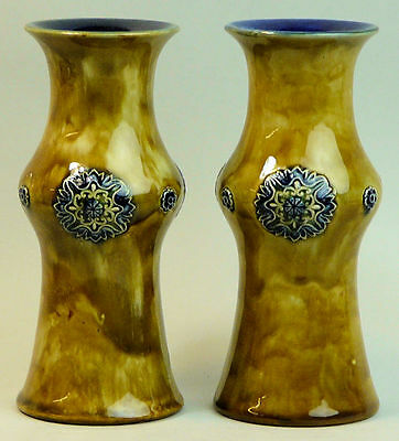 A Fine Pair Of Royal Doulton Art Pottery Vases - Christine Abbot C.1905