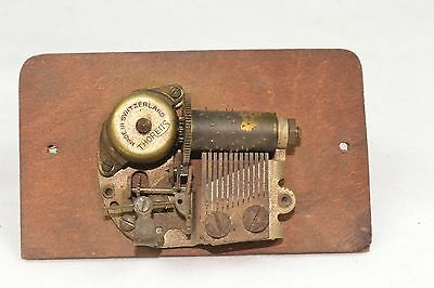 Antique THORENS Music Box Movement WORKING ~ Switzerland