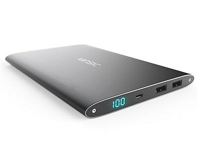 VINSIC Portable 20000mAh Mobile Power Bank Charger Li-Polymer Battery Aluminum