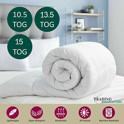 New Duvet Quilt Bedding Single Double King All Sizes 13.5 15.0 Tog Free P&P